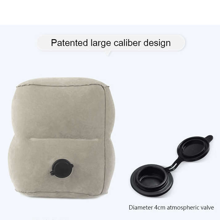 Travel Inflatable Footrest Pillow Airplanes Rest Sleeping Flocking Foot Mat Portable Foot Pad