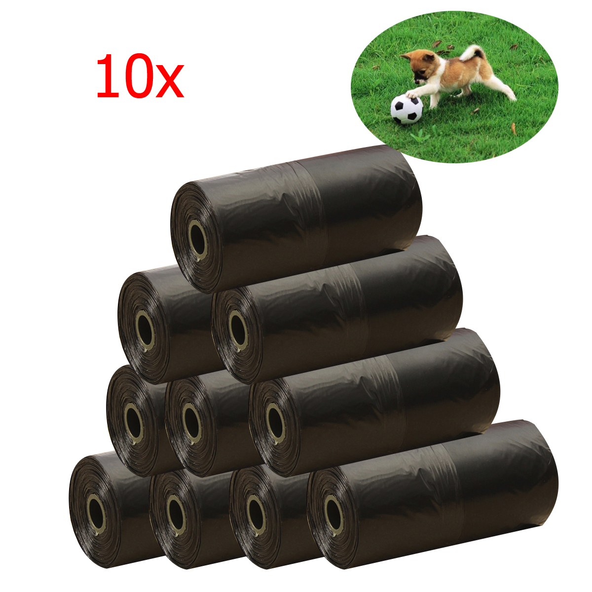 00e601a1a10 New 10 Roll Pet Dog Poo Bag Cat Waste Poop Pick Up Biodegradable ...