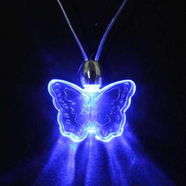 LED Blue Magnetic Light Charm Pendant Necklace Gift Xmas Birthday