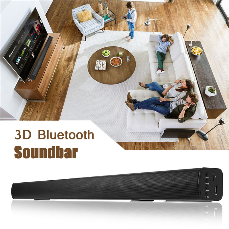 bluetooth 4.0 Echo TV Soundbar Speaker 3D Audio Sound Support TF card