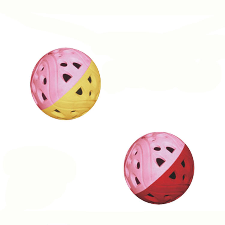 Tinkle Bell Ball Pet Toy Plastic Dog Cat Playing Ball F