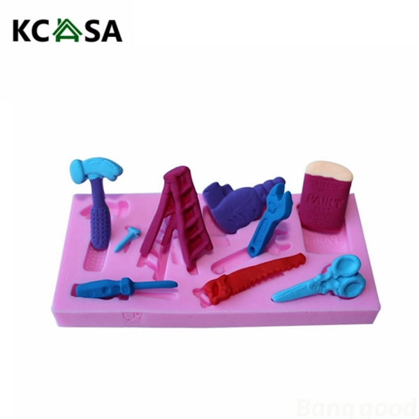 Tools Silicone Fondant Mold Chocolate Polymer Clay Mould