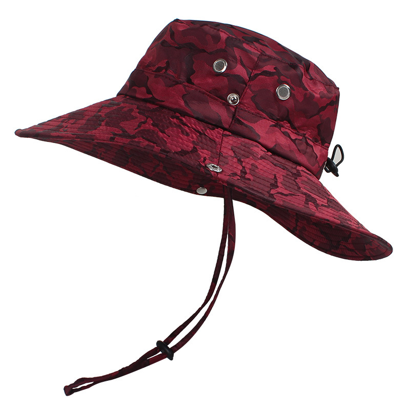 Camouflage Bucket Hat Sun Protection Gardening Fishing Cap