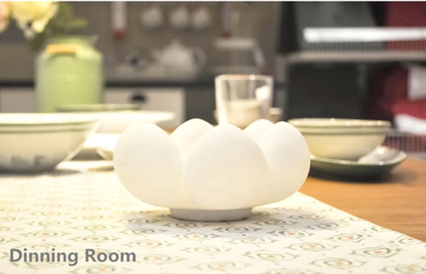 Creative Soft Silicone Touch Sensor Fleshy Flower LED Night Light Cosmetic Storage Lamp Decor