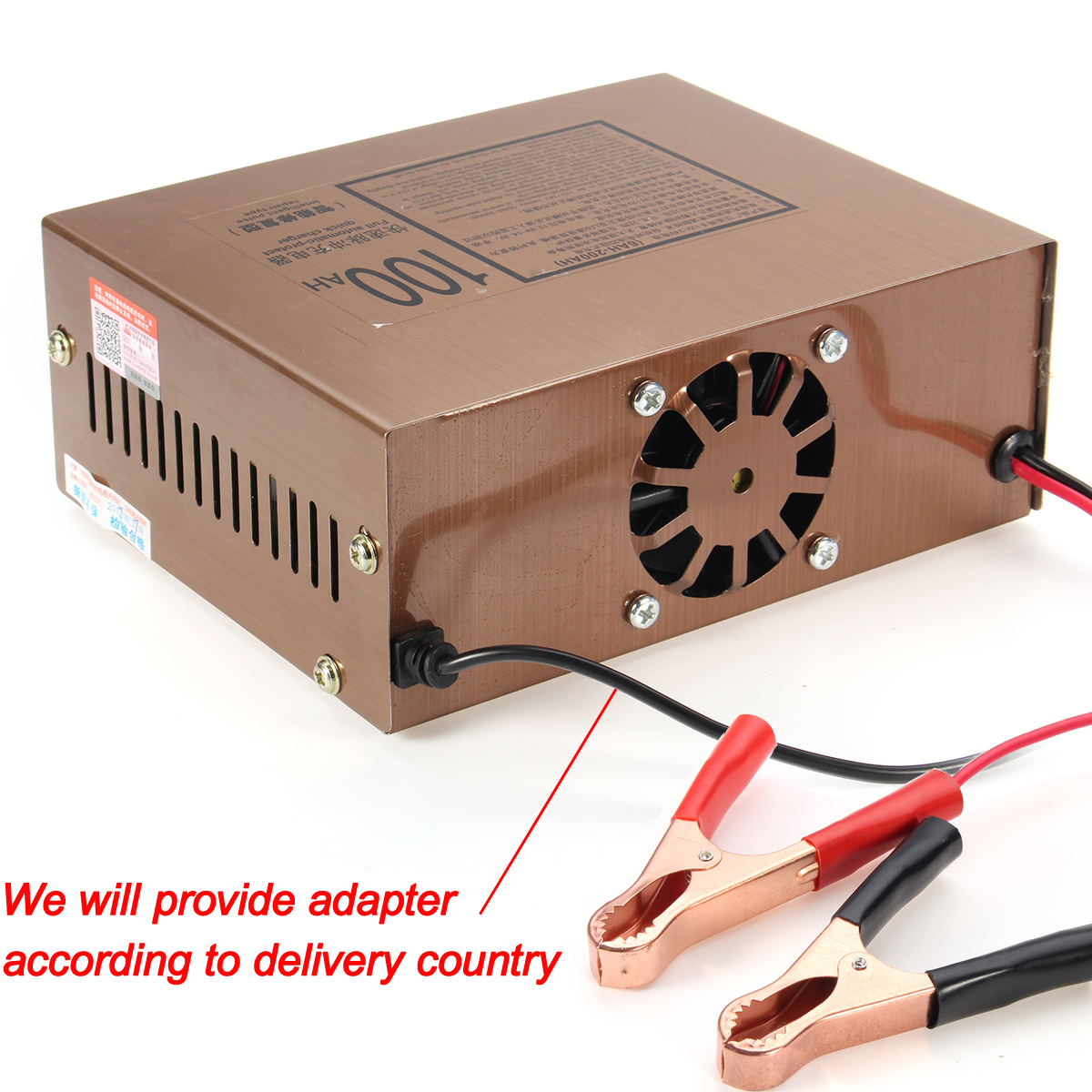 12V/24V 110/220V Automatic Electric Car Motorcycle Battery Charger Intelligent Pulse Repair
