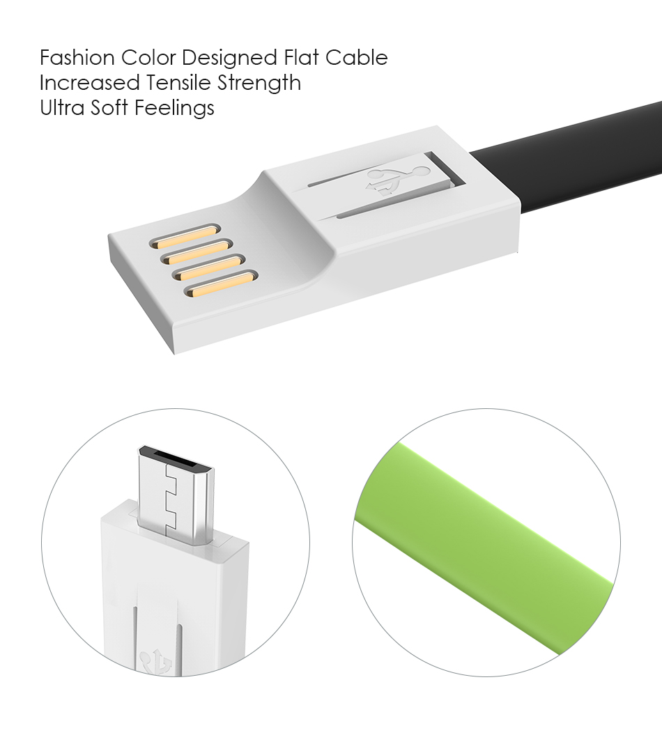 FLOVEME Mini Portable Key Chain Micro USB Reversible Charging Phone Cable For Redmi 5 Plus Note 5 S7