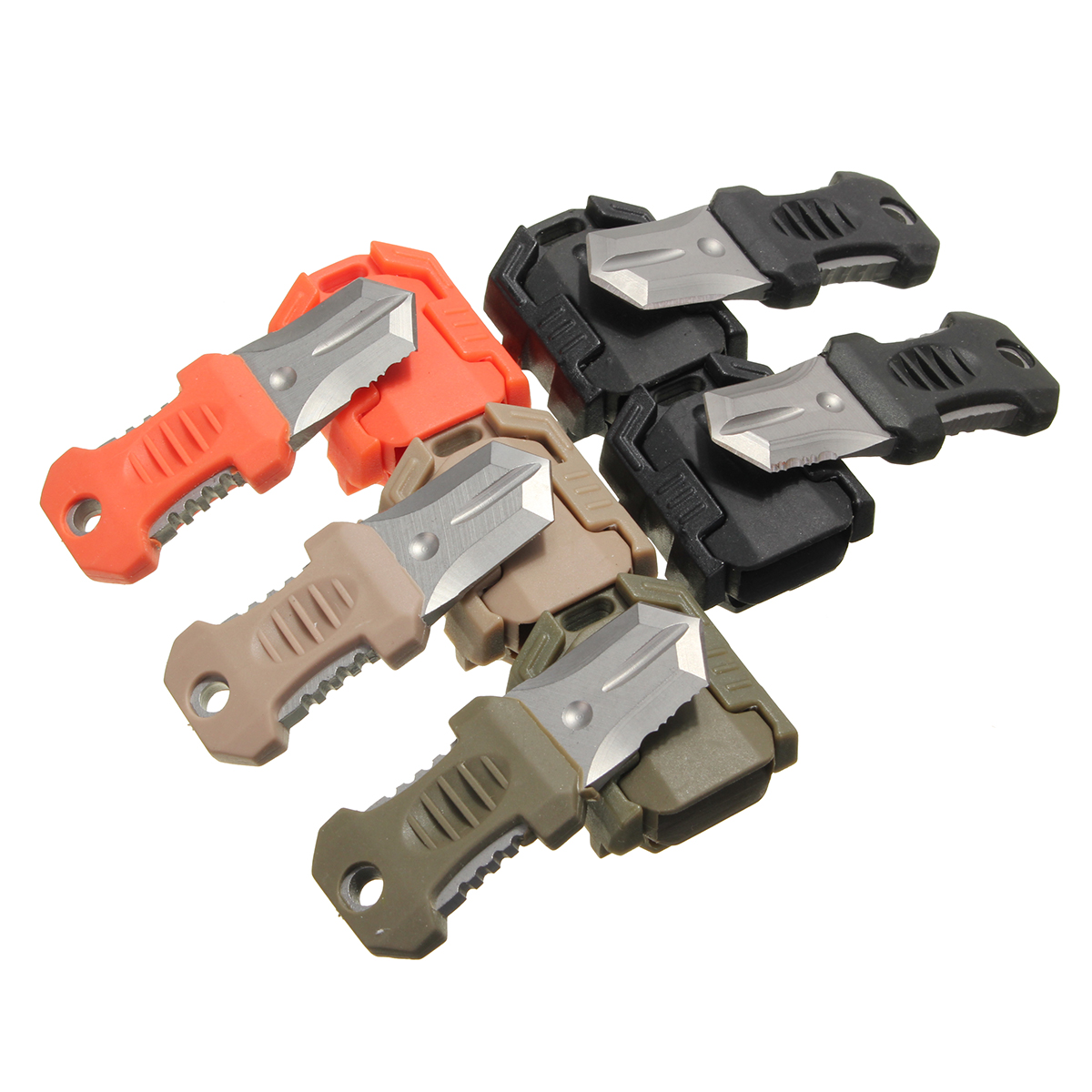Multifunction Mini Pocket EDC Self Defense Survival Knife Tool Molle Webbing
