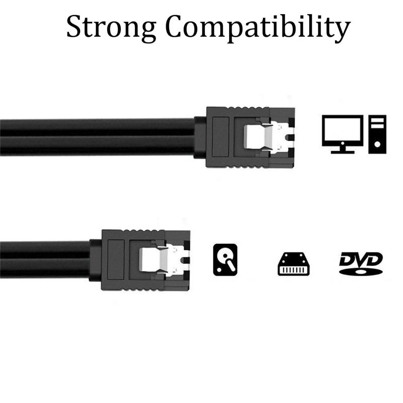 6Gb/s SATA III 3.0 Data Cable Serial Port Hard Disk SSD Cable Wire