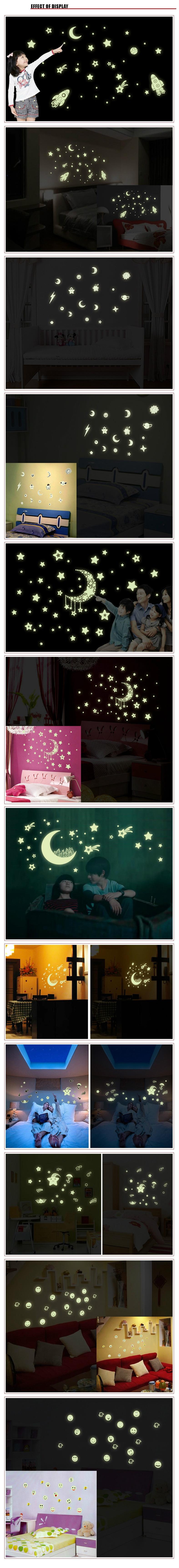 Glow In The Dark Home Decor Shining Star Luminescence Sticker