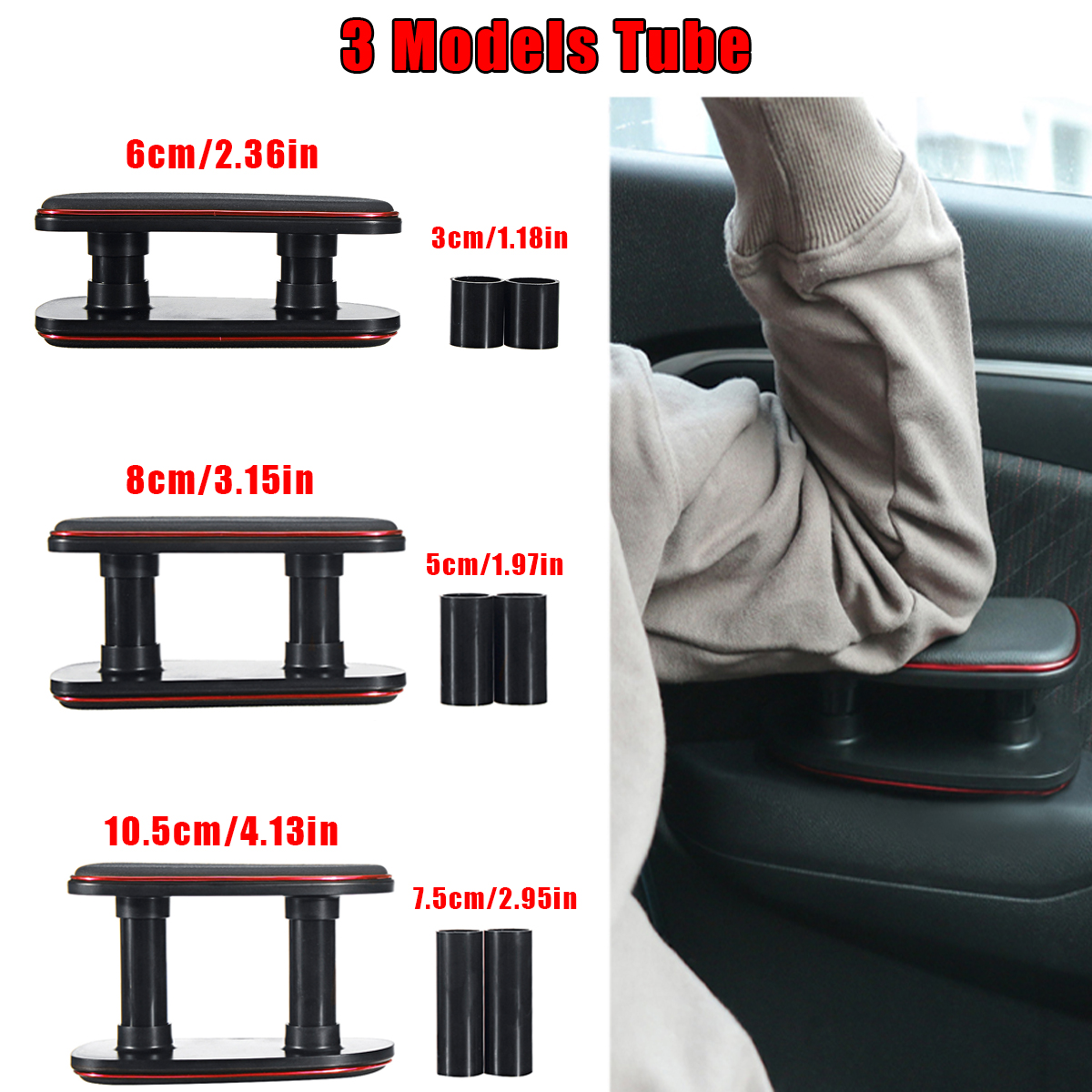 Universal Driving Anti Fatigue Adjustment Car Left Hand Armrest 3 Models Tube Elbow Silicone Pad Support Bracket