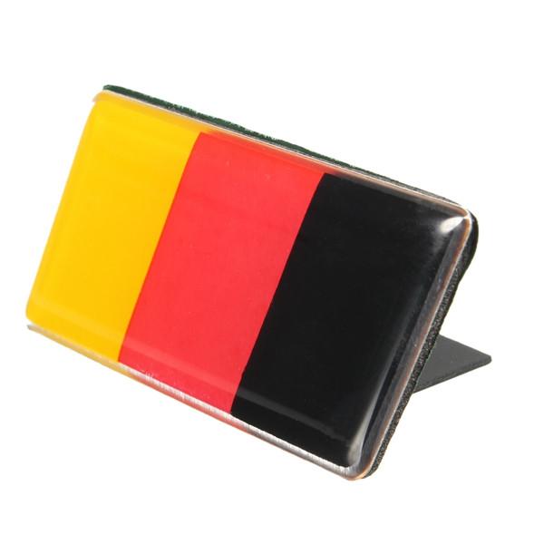 Aluminium German Germany Flag Badge Grille Emblem Car Sticker Decal Universal Decoration