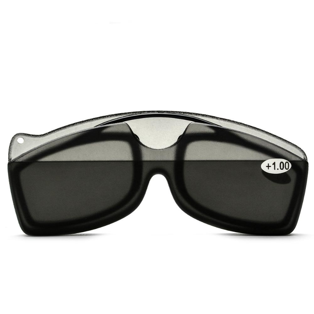 KCASA New Nose Clip Reading Glasses TR90 Mini Portable