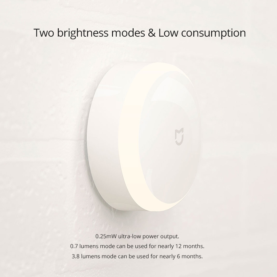 Xiaomi MiJIA MJYD01YL LED Smart Infrared Human Body Motion Sensor Dimmable Night Light For Home