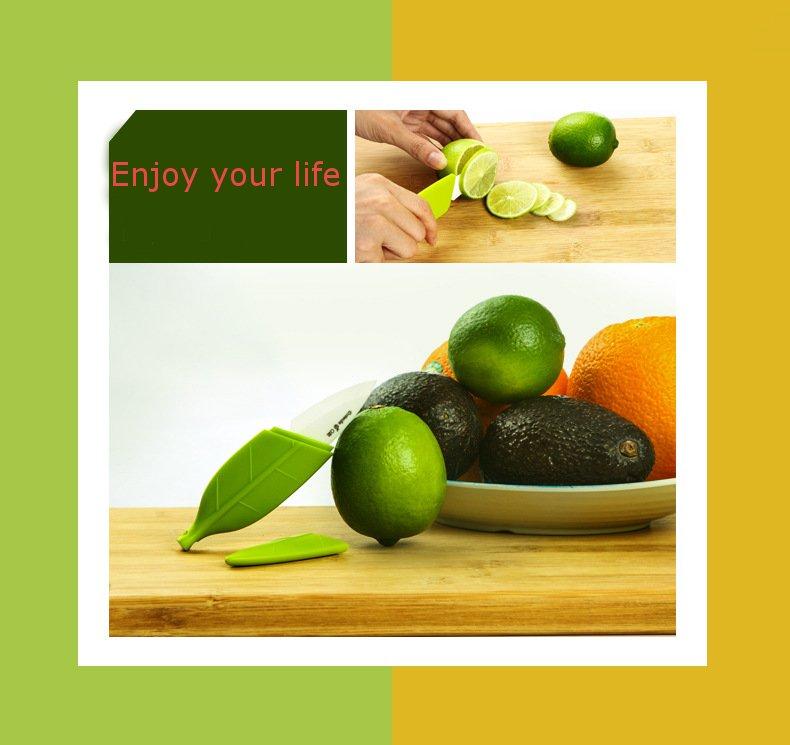Portable Leaf Shape Fruit Ceramic Knife Pocket Mini Vegetable Fruit Ceramic Knife Peeler Slicer