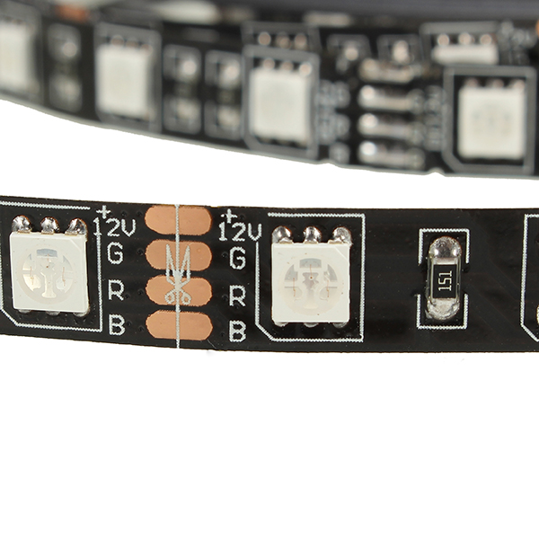5M SMD5050 RGB LED Flexible Strip Tape Light Kit + Music Controller + Connector Cable Wire 12V