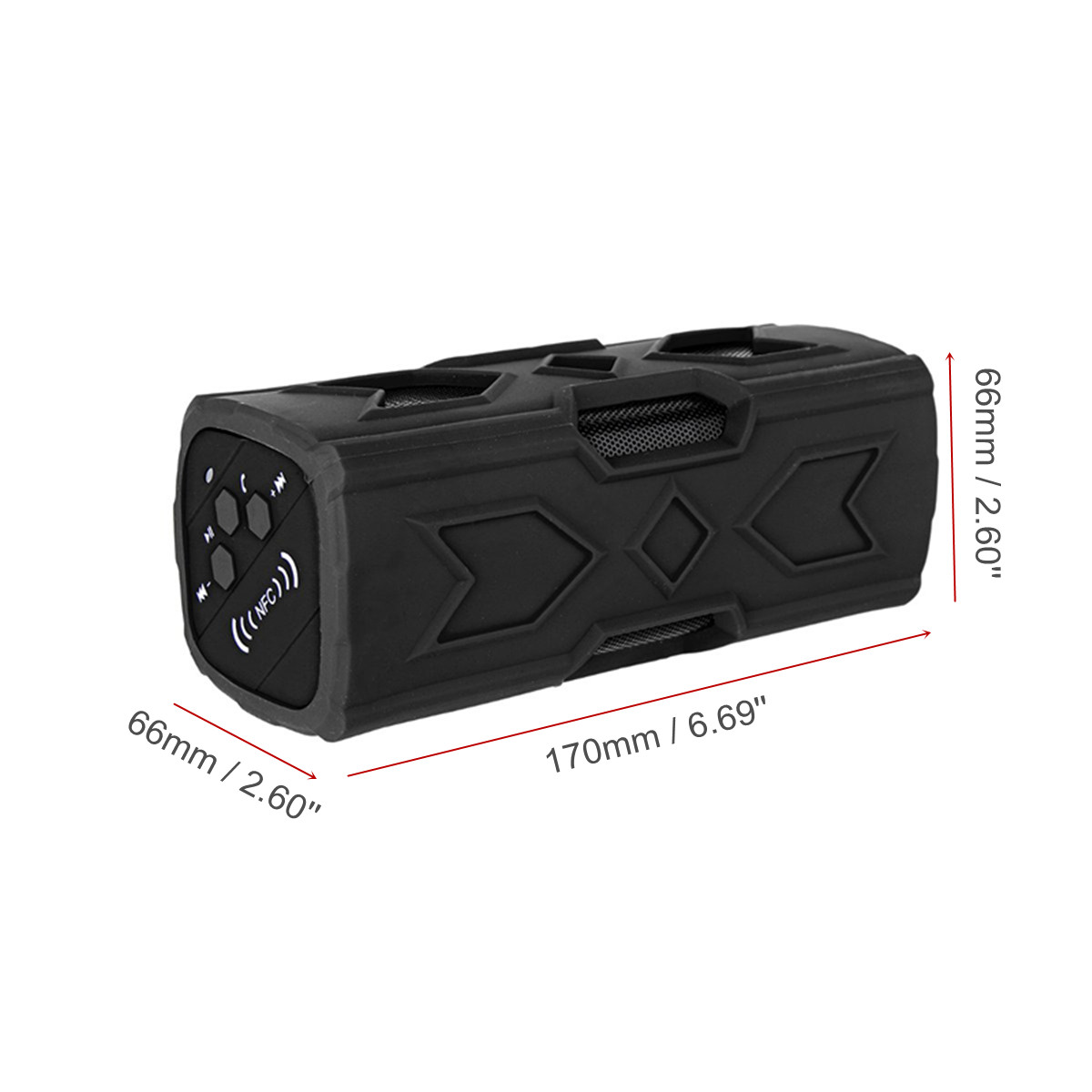 Portable bluetooth 4.0 Wireless Speaker Waterproof USB Power Bank Bass NFC AUX Subwoofer