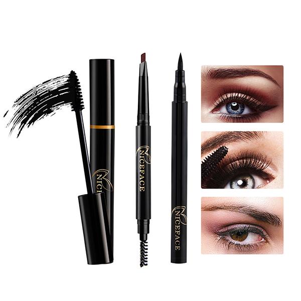 Eyes Makeup Set Liquid Eyelashes Mascara Eyebrow Pencil