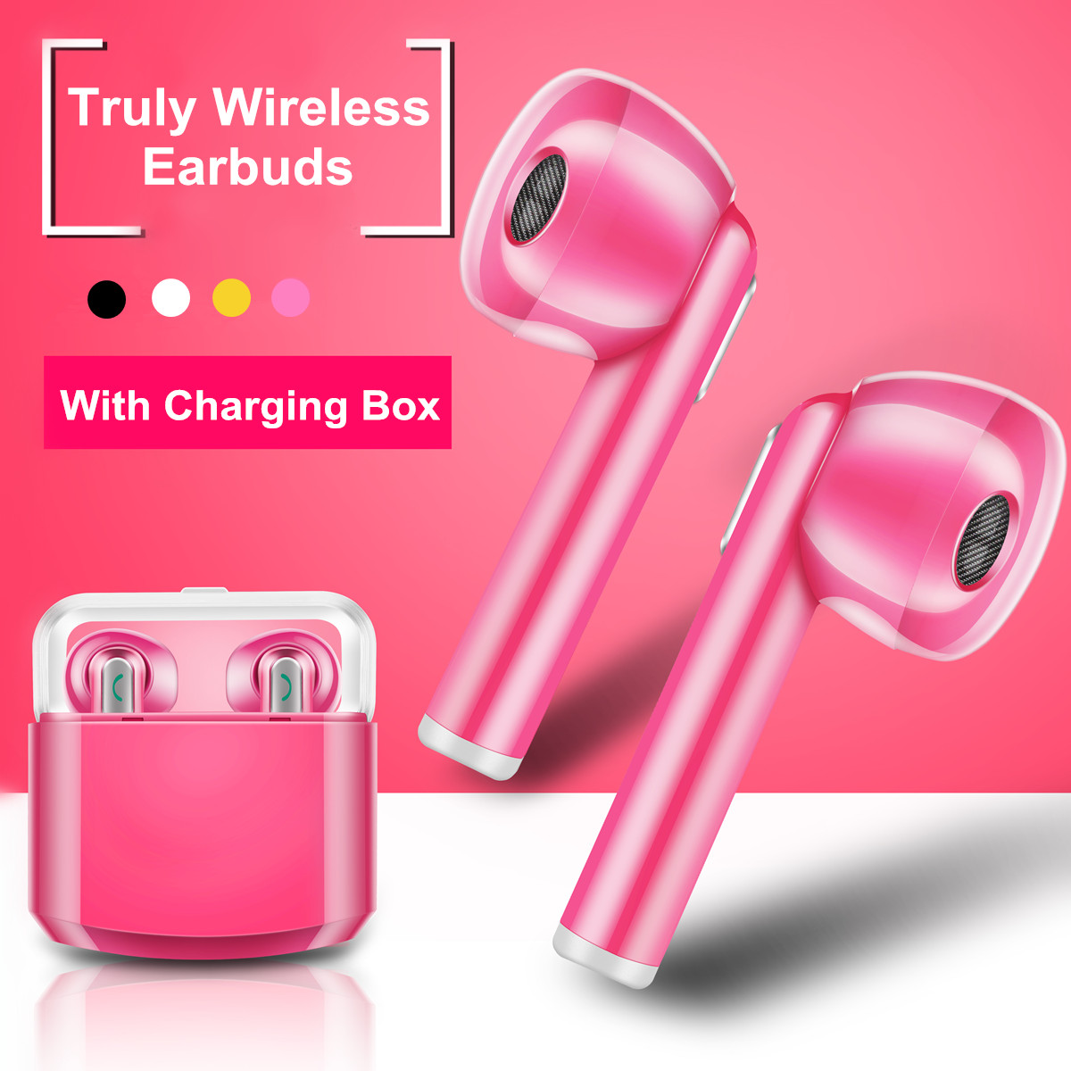 [True Wireless] TWS Mini Portable Dual Wireless bluetooth Earphone Headphones with Charging Box