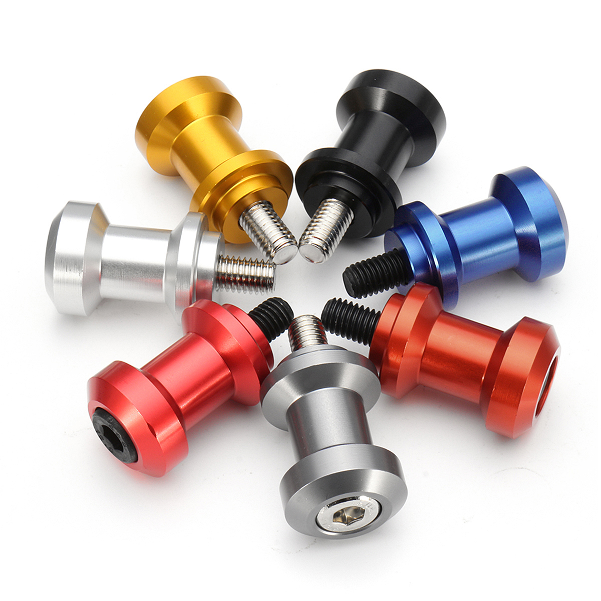 8mm Aluminum Swing Arm Spools Sliders Bolts For Suzuki/Honda/Kawasaki/Triumph