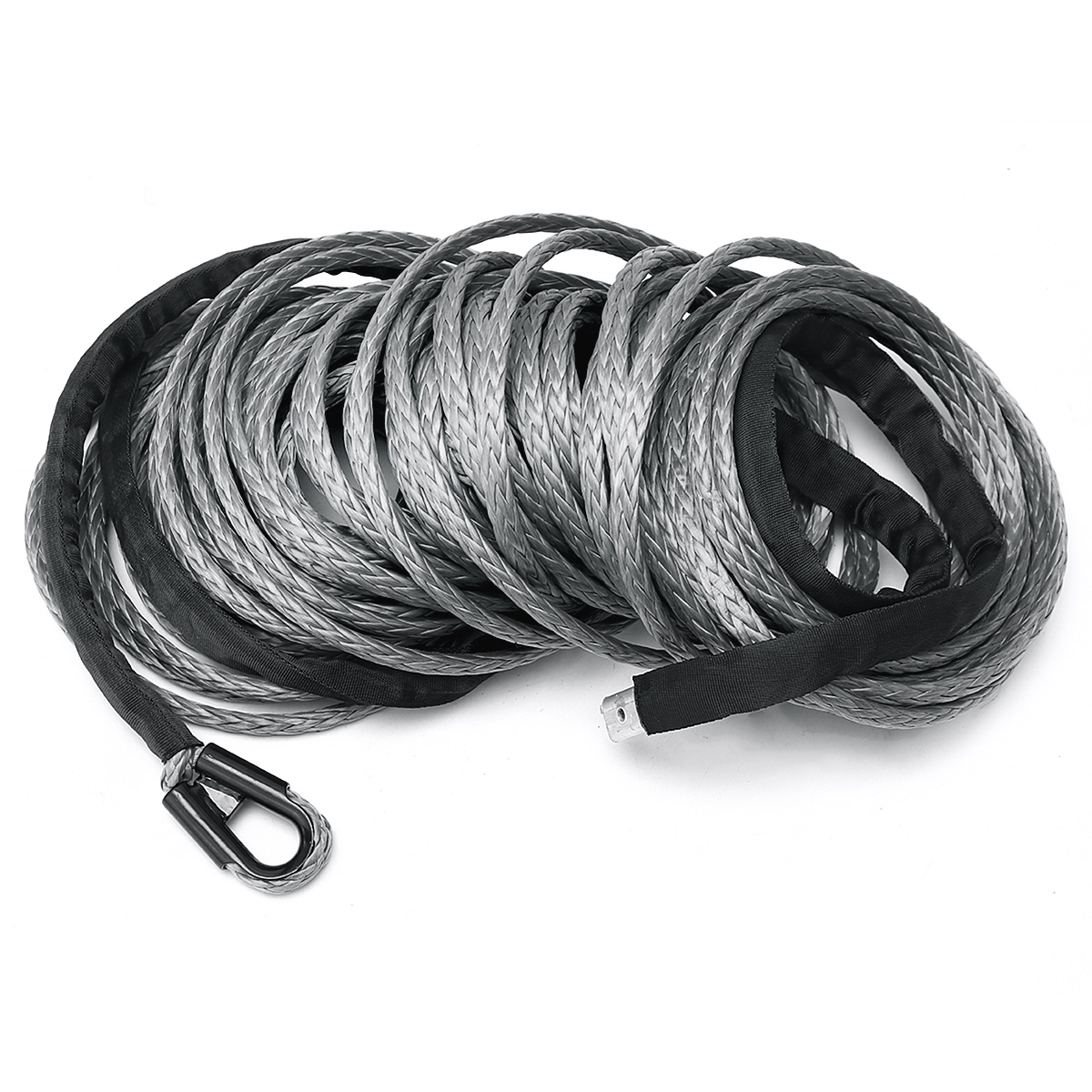 10mm 30m 23809LBS 100ft Winch Rope Line Recovery Cable Synthetic 4WD ATV Heavy Duty