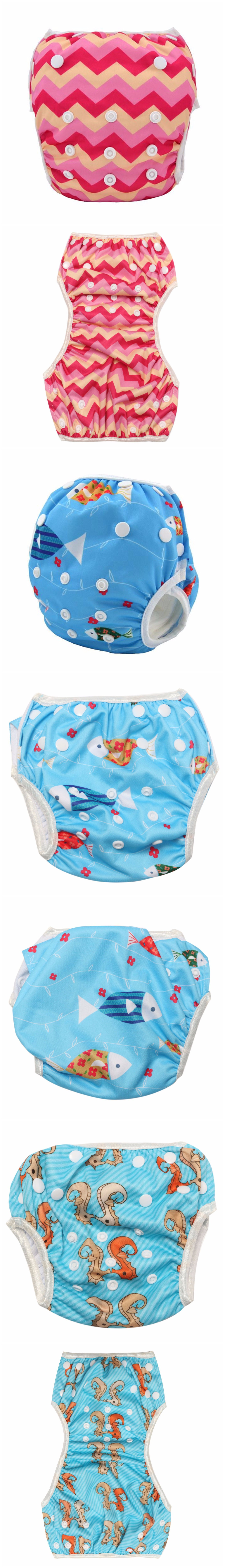 Child Kids Toddler Swiming Nappy Cover Baby Diapers Pants Nappies Reusable Washable