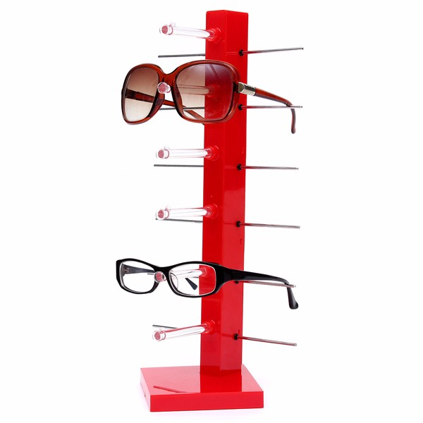 Fashion 6 Pair Sunglasses Eye Glasses Frame Rack Spectacle Eyewear Holder Stand Display Holder