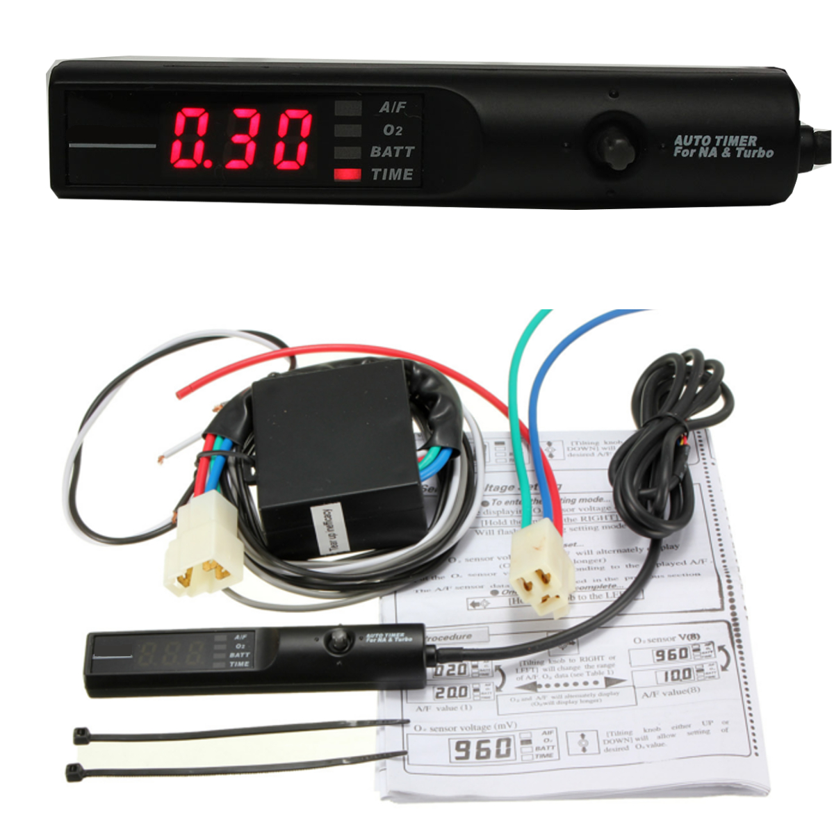 Turbo Timer Control Unit Luminous Digit LED A/F O₂ Batt Time For Apexi