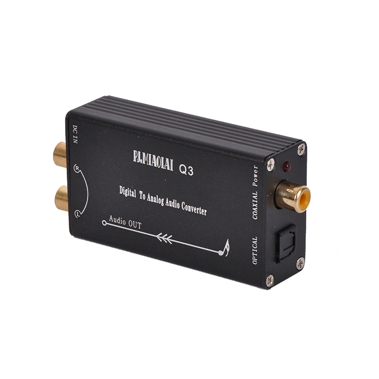PJ.MIAOLAI Q3 Digital to Analog Audio Optical R/L Converter DAC Decorder