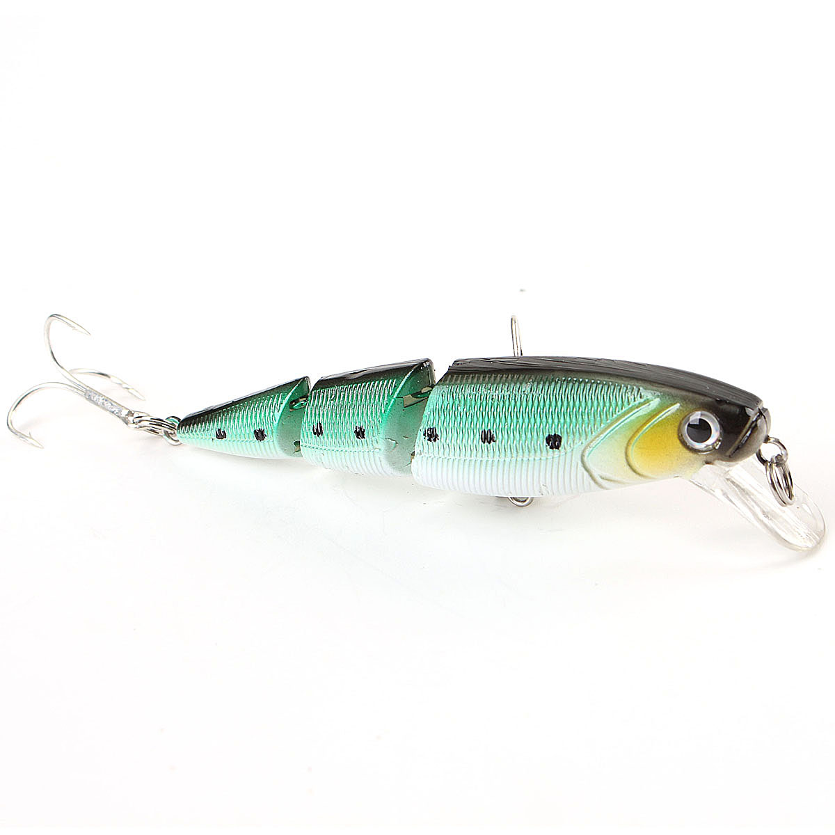 ZANLURE 4pcs/pack Multi Colors 3 Sections Minnow Fishing Lure Floating Lures Hard Bait