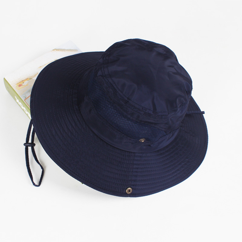 Summer Wide Brim Bucket Hat Fisherman Sun Hat Adjustable