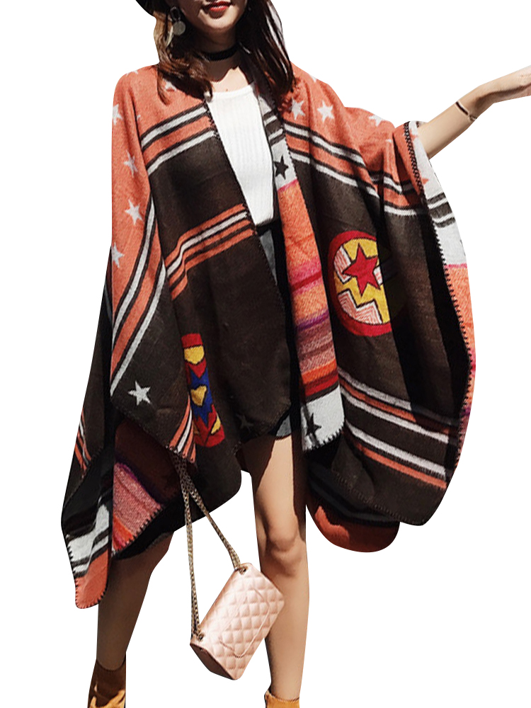 Casual Women Pattern Printed Blanket Wrap