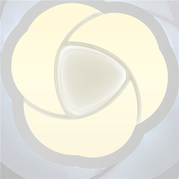 18W Modern Round Flower Acrylic LED Ceiling Light Warm White/White Lamp for Living Room AC220V