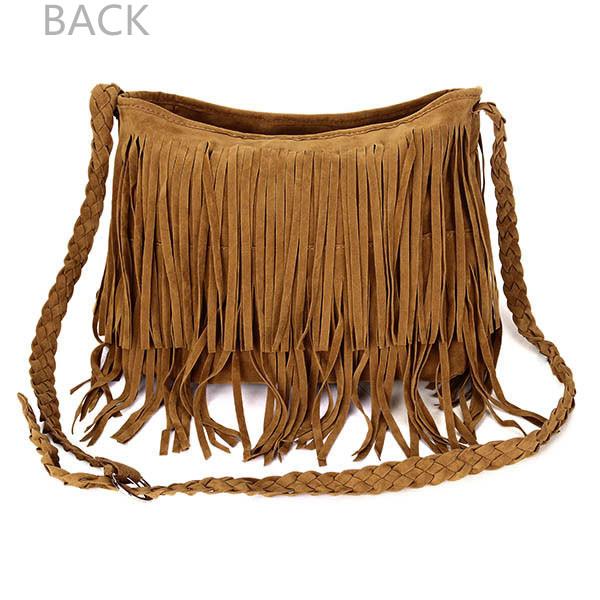 Women Retro Tassel Bags Girls Casual Shoulder Bags Crossbody Bags Messenger Bags