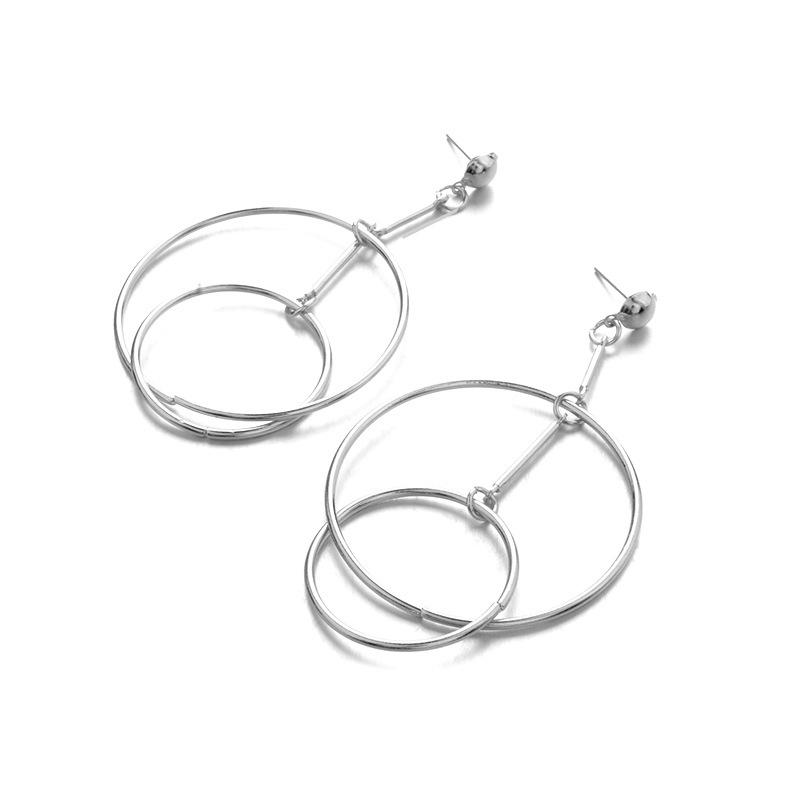 Trendy Hollow Hoop Earring Fashion Minimalism Long Earring
