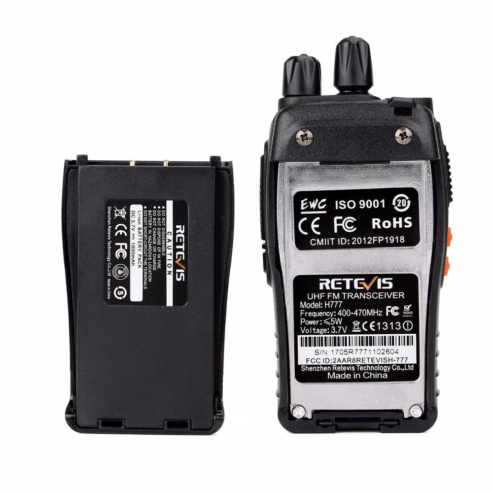 Retevis H777 Walkie Talkie Retevis 16CH UHF 400-470MHz Ham Radio HF Transceiver 2 Way Radio
