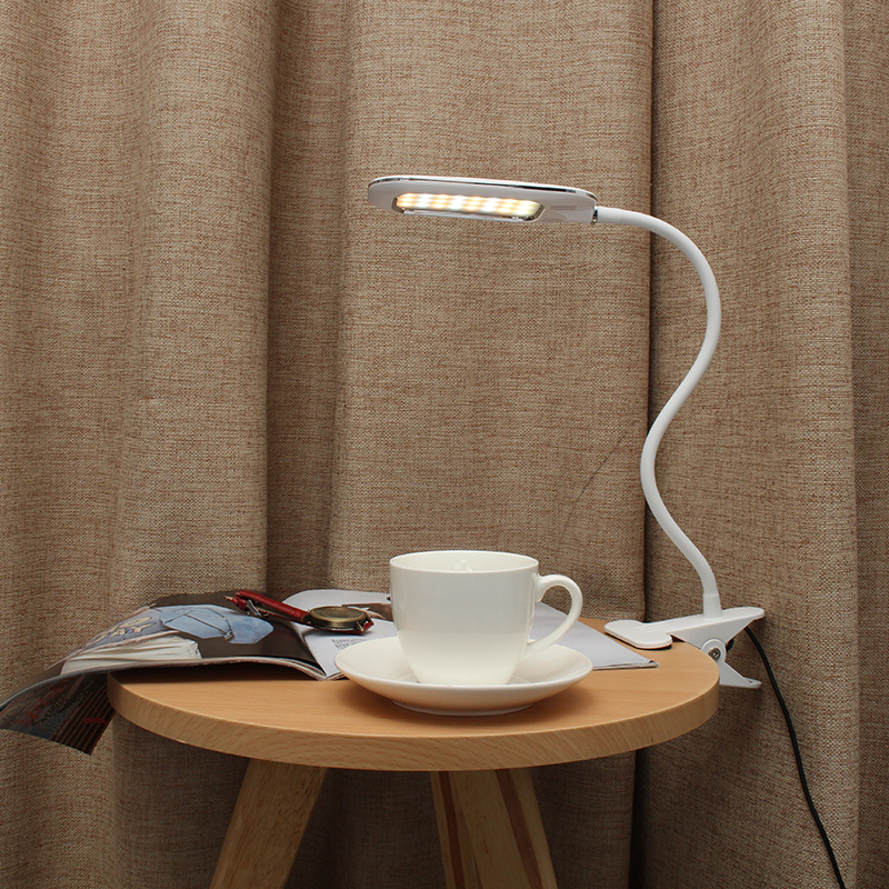 DC5V 5W 12LED Clip Light Type Desk Clamp Lamp Dimming Reading Eye Care USB Table Lights