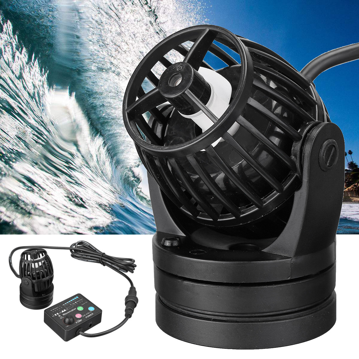 Jebao PP8 SW8 Aquarium Water Pump Fiah Tank Wave Maker with Controller