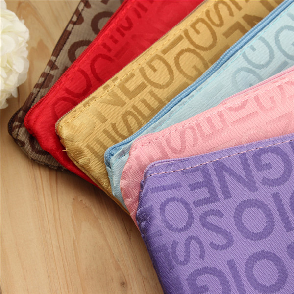 Travel Letter Cosmetic Bag Multifunction Makeup Storage Pouch Bags 6 Colors