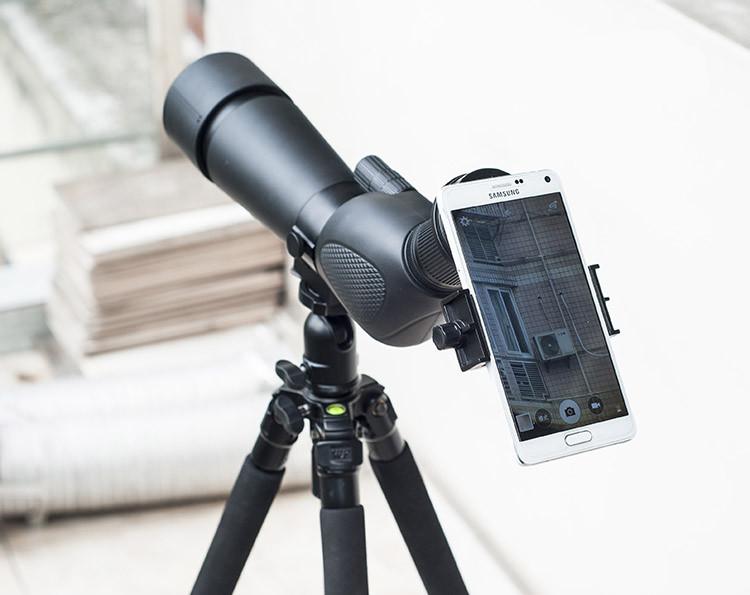 Универсальный телескоп камера Объектив Держатель для подключения телефона 0-6 дюймов и окуляра 22-48 мм