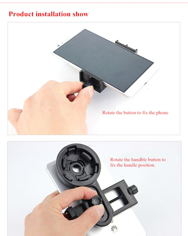 Universal Telescope Camera Lens Holder Connecting 0-6 Inch Phone And 22-48mm Eyepiece