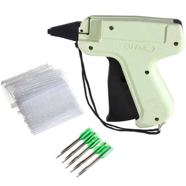 Price Label Tagging Gun with 5 Steel Needles 1000 Clothing Barbs