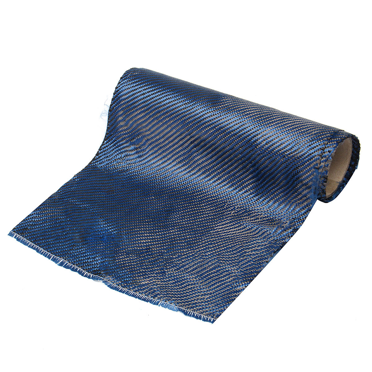 30x100cm Carbon Fiber Fabric Aramid Twill Cloth Film Blue 200gsm for Craft DIY Decoration