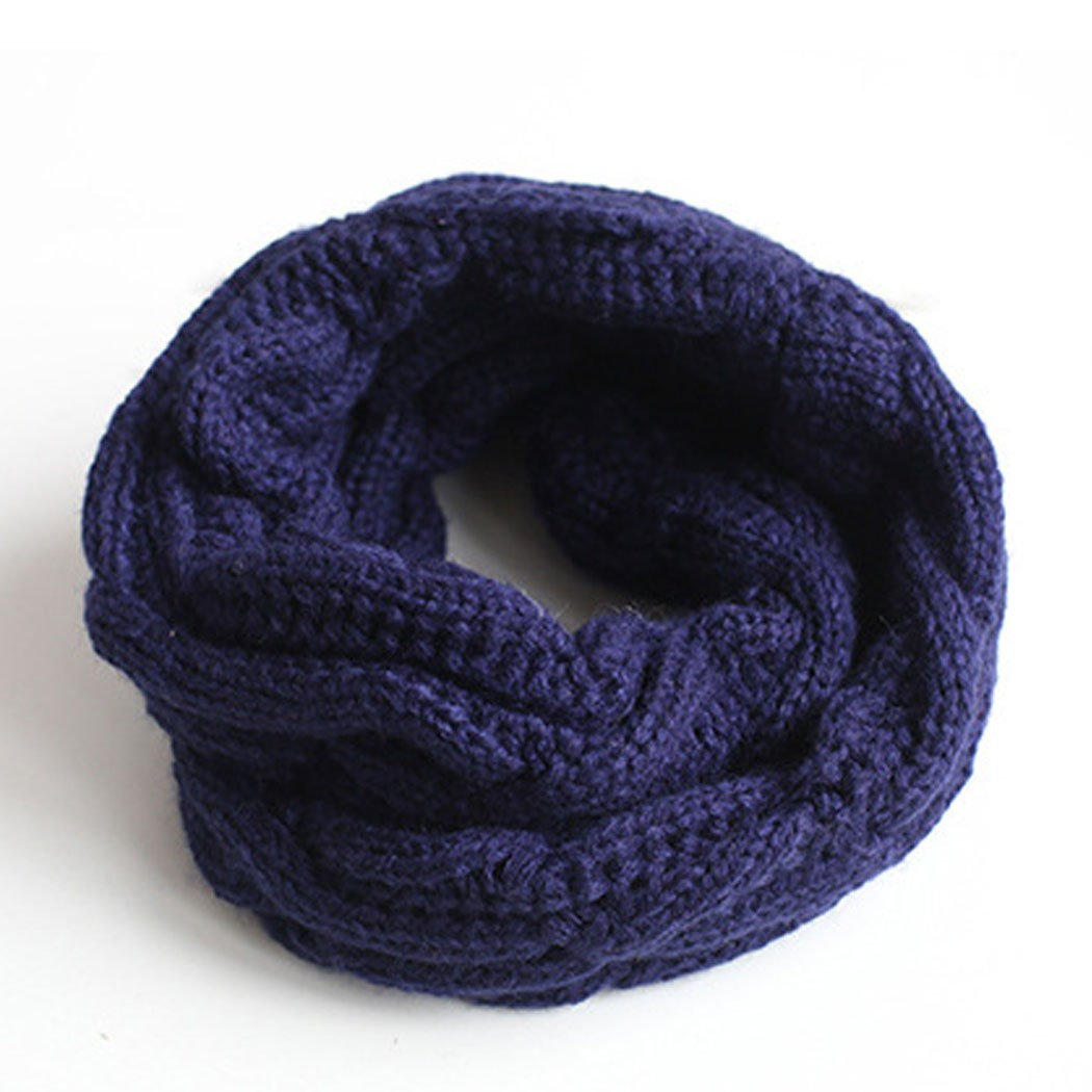 New Kids Baby Boy Girl Winter Warm Knitting Soft Scarf Candy Colors Scarf Snood