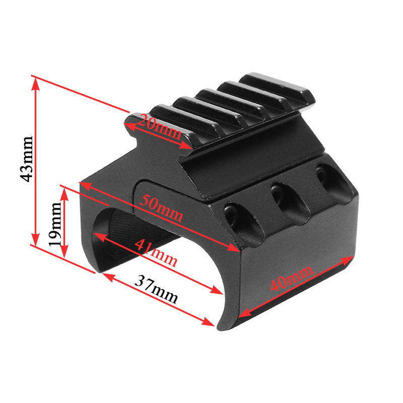 20mm Picatinny Rail Mount Converter Laser Sight Flashlight Base Adapter