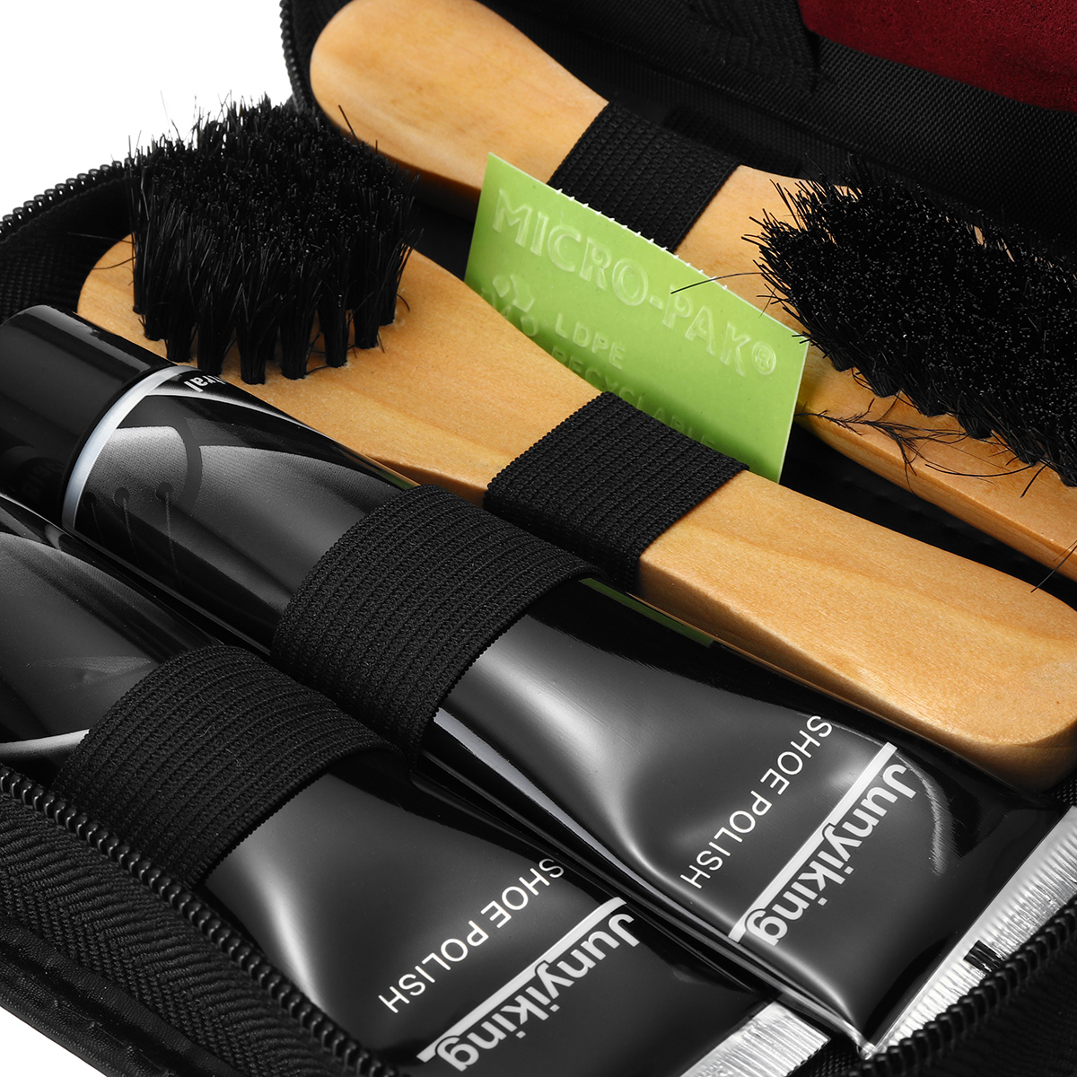 7 In 1 Shoes Polish Tools Kit Boot Care Leather Craft Shine Cleaning Brushes Set Tool