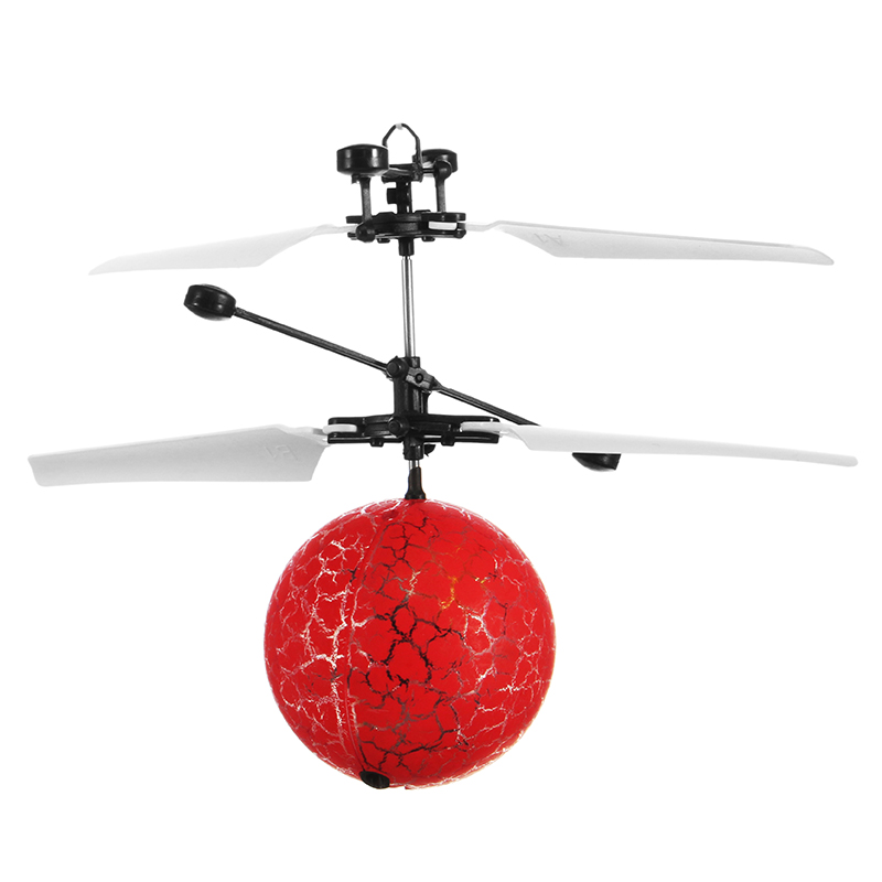 Hand Induction Aircraft Flying Ice Crack Flashing Helicopter Toy for Kids