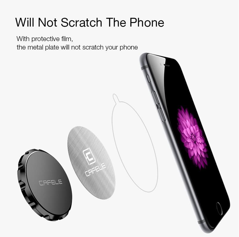 CAFELE Mini Metal Plate Magnetic Car Desktop Wall Phone Holder Stand for Xiaomi iPad Mobile Phone