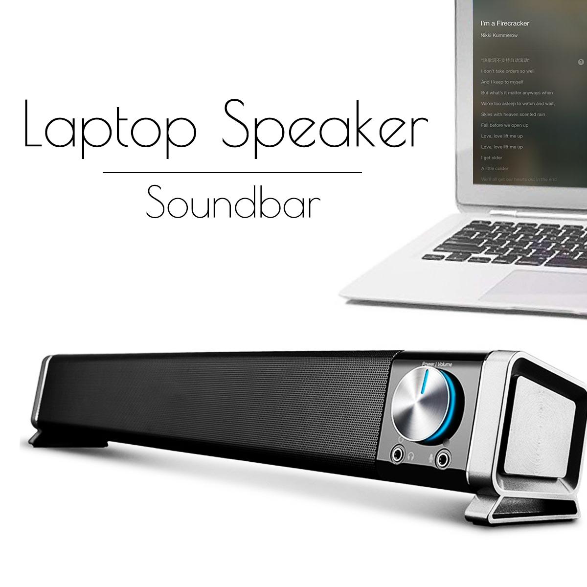 Mini Subwoofer Laptop Desktop Speaker Stereo Noise Reduction 3.5mm USB Jack Volume Control Speaker