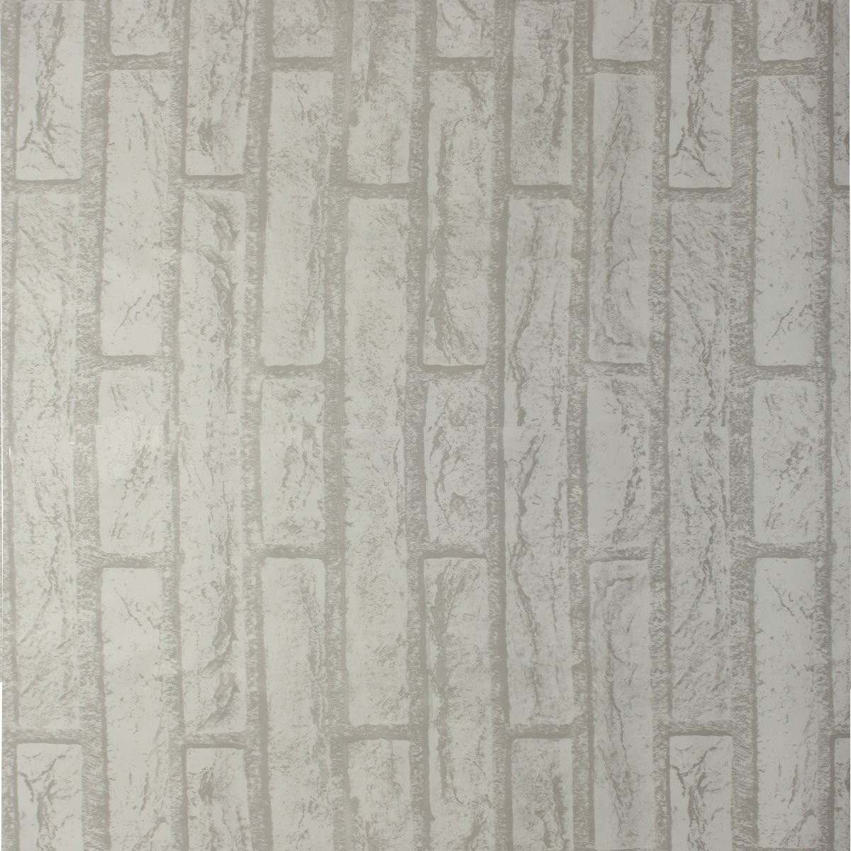 10m White Grey Brick Stone Prepasted Adhesive Contact Paper Wallpaper Roll Wall Art Decor