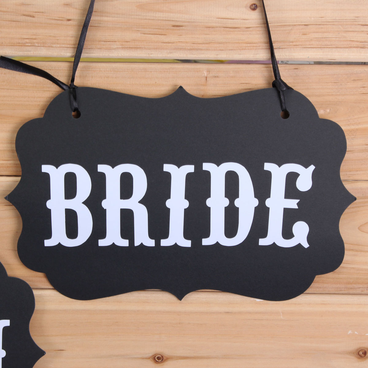 DIY GROOM BRIDE Ribbon Wedding Chair Garland Party Decoration Photo Props Accessory